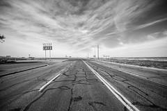 I Need to Get Back Out on the Road Again (Thomas Hawk) Tags: adrian america midpointcafe midpoint route66 texas usa unitedstates unitedstatesofamerica bw neon us fav10 fav25 fav50 fav100