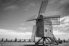 """Prairie Skyscraper? (SpyderMarley) Tags: alberta etzikom oldbuildings windmill history prairies """"black white"""" museum canada"""