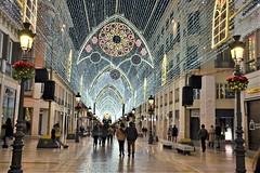 Christmas Lights Malaga (1), Nikon D3100. DSC_0198. (Robert.Pittman) Tags: nikond3100 d3100 sigma18300mmf3563dcmacrooshsm iamnikonlowlight night street chistmas streetlights decorations people callemarquesdelarios shops malaga costadelsol andalusia españa spain europe