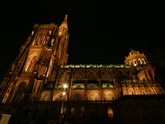 Straßburg, Münster 2 (GerhardQ) Tags: strasbourg strasburg münster kirche cathedral nightshot bynight lumixg9 microfourthirds