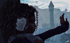 About year ago... (CharlieMerle) Tags: charliemerle charlottemerle mischiefmanagedsl mischiefmanaged hogwartssl rppost teenagelove engagement owlery snow winter doe silhouette