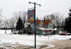 Lily Lake Resort - Burlington, Wisconsin (Cragin Spring) Tags: lilylakeresort bar sunsetgrill sign wisconsin snow rural burlington burlingtonwi burlingtonwisconsin building unitedstates usa unitedstatesofamerica midwest