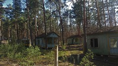 Holiday camp in the woods of Chernobyl (M3rido) Tags: chernobyl prypjat holiday camp freizeitlager ferienlager wald forest shed sheds hütten lost place abandoned kieferwald