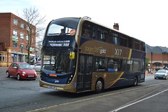 Stagecoach AD Enviro 400MMC 11122 SK68LUO - Chesterfield (dwb transport photos) Tags: stagecoach alexander dennis enviro 400mmc bus decker stagecoachgold 11122 sk68luo chesterfield
