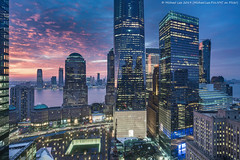 WTC Sunset Composite (20190202-DSC02591-Edit-3) (Michael.Lee.Pics.NYC) Tags: newyork sunset composite night twilight bluehour wtc worldtradecenter 911memorial brookfieldplace hudsonriver jerseycity aerial hotelview milleniumhilton millenniumhilton architecture cityscape sony a7rm2 zeissloxia21mmf28
