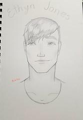 Ethyn Jones. (Lord.of.the.Flames) Tags: art artist draw sketch doodle oc hair eyes football allstar anime