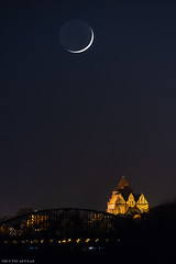 C (Piotr Potepa) Tags: moon moonset moonlight crescent torun toruń poland night nightscape nightscapes