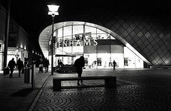 Debenhams Space Ship (Bury Gardener) Tags: burystedmunds bw blackandwhite britain monochrome mono england eastanglia uk people peoplewatching folks nikond7200 nikon british 2019 suffolk streetphotography street streetcandids snaps strangers candid candids arc thearc