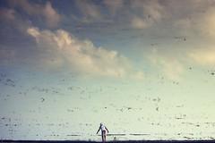 Near Ponpadhirkoodam (Akilan T) Tags: ponpadharkoodam clouds cwc chennaiweekendclickers reflection farmer