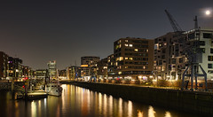 Hamburg Hafencity Sandtorhafen (norbert.wegner) Tags: night urbanscene harbor city illuminated architecture cityscape nauticalvessel builtstructure buildingexterior dusk reflection river water commercialdock famousplace netherlands urbanskyline outdoors citylife