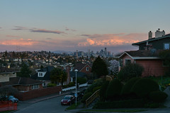 Magnolia Sunset Views 16 (C.M. Keiner) Tags: seattle washington usa city cityscape skyline mountains pacific northwest puget sound sunset magnolia hills clouds spring cherry blossoms