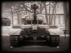 Old Tank, Cantigny Park. 12 (e5) (Mega-Magpie) Tags: motorola moto e5 outdoors cantigny park wheaton dupage il illinois usa america tank bw black white mono monochrome