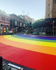 The rainbow walk is up! #rainbow #mardigras2019 #sydneymardigras2019
