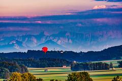Ballooning in Bavaria - the red Dot (*Capture the Moment*) Tags: 2018 bavaria bayern bloodmoon deutschland fullmoon germany juli july sigmaapo120400mmf4556dgoshsm sigmadg120400mm14556apoham sonya77 sonyalpha77 totaleclipse