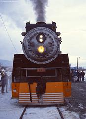 4449 Steam Train - Washington State (Electric Crayon) Tags: 4449 train steamtrain southernpacific pacificnorthwest washingtonstate 1989centennial chelancounty usa unitedstates america 35mm film kodak kodachrome winter snow rural minolta electriccrayon patrickmcmanus filmgrain primefilmxa