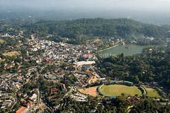 Sri Lanka. Aerial view, Kandy City (Skylover2222) Tags: srilanka aerial view kandy city crowded busy hillcountry town housing urban bogambara prison cricket ground lake udawattakelle udawattakalle forest