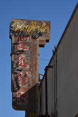 Buffalo Club - vintage neon sign (remiklitsch) Tags: neon sign buffaloclub santamonica olympic nikon remiklitsch yellow red vintage buffalo restaurant club oldschool la