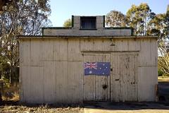 Shed 1 (Girt By Sea) Tags: tinshed corrugatediron oldshed rustedshed australianicon australianflag farmland farminfrastructure buangor victoria ruralaustralia photography