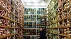 The most colorful shop! (BIG format!!) (marcomariamarcolini) Tags: morocco colorfulwires wires colorful colorshades fez medina fezmedina reallife portrait ritratto colorato filidiseta rocchetti sfumature crazycolors silkwires shades nuances