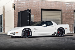 Chevrolet C5 Corvette Z06 on Cray Eagle gloss black mirror cut lip mesh staggered wheels rims - 02 (tswalloywheels1) Tags: chevrolet chevy corvette vette c5 z06 c5z06 kctrends cray eagle mesh staggered gloss black mirror cut lip wheel wheels rim rims alloy alloys aftermarket