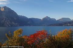 Lago di Garda with view at Riva del Garda (El Greco Travelphotography) Tags: italy travel autumn pentax pentaxk50 landscape view nature lagodigarda lake water veneto hill mountains sky color