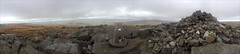 great whernside panorama (Ron Layters) Tags: gretwhernside trigpoint panorama windy cold cairn clouds rosvks boulders gritstone boggy heather moor vista landscape poorvisibility badweather goodtobeout walking summit kettlwell yorkshire england unitedkingdom phonecamera iphone apple appleiphone6 selftimer tripod 10secondtimer ronlayters