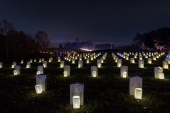 Night tour of Mill Springs Battlefield, Confederate Graves (sniggie) Tags: battleofmillsprings confederatesoldiercemetary kentucky civilwar felixzollicoffer georgehenrythomas