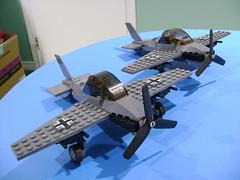 Custom Lego WW2 German dark grey fighter plane (TekBrick) Tags: custom ww2 lego german fighter plane moc bricks dark grey gray parts pilot war