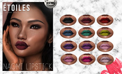 .Etoiles. Naomi Lipstick Vendor (Étoiles) Tags: second life new designer event release lipstick mesh head applier catwa naomi