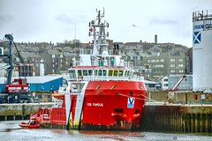 VOS Famous - Aberdeen Harbour Scotland - 1st April 2019 (DanoAberdeen) Tags: vroonoffshore vosfamous candid amateur 2019 aberdeen harbour psv ship shipping abdn abz uk gb seaport offshore pocraquay autumn summer winter spring northsea northeast scotland water bluesky transport marineoperationscentre grampian oilrigs oilships geotag tug tugboats cargoships supplyships danoaberdeen danophotography aberdeencity aberdeenscotland sailing workboats marine mariner esvagtkappa seafarers shipspotting aberdeenharbour errv oilandgas footdee fittie northpier dock sealife clouds golden seascape shippingworldwide haulage lifeatsea outdoors ecosse watercraft
