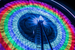 spinning eagle (pbo31) Tags: eastbay alamedacounty bayarea california nikon d810 color night dark black april 2019 boury pbo31 oakland butler amuesments fair carnival ride lightstream spinning motion traveling