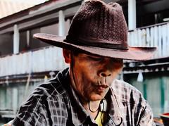 Thai men (m.iop91) Tags: travel photo entrylevel picture thai thailand floatingmarket face canon 4000d eos