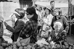Japanese tomatoes (Luis Alvarez Marra) Tags: tomatoes japanese bw black white monochrome nikon d7000 prime 24mm collecting soul candid street streettog tog outdoor spain tarragona catalonia decisive moment