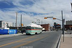EL PASO--1512 at Stanton/Rio Grande OB (milantram) Tags: electricrailtransport railsystemselpaso elpaso elpasostreetcar sunmetro pccs streetcars trolleys trams