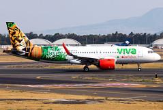 XA-VIE Viva Aerobus A320neo (twomphotos) Tags: plane spotting mex mmmx landing departing rwy23r rwy23l evening afternoon viva aerobus airbus a320neo bestofspotting colorfullspecial