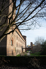 Castello Visconteo, Pavia, Italy (igorigor88) Tags: castello castle palazzo palace museo museum building edificio storia history architecture architettura parco park garden giardino cielo sky blue azzurro verde green fossato nature natura albero tree nikon nikond3300 travel trip vacation holiday viaggio vacanza gita december dicembre winter inverno cold freddo sun sunny sole light luce ombre shadows pavia lombardia italy northernitaly norditalia northitaly north italia