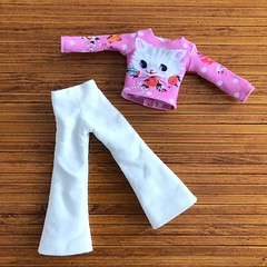Outfit for Blythe neo (Valeri-DBF) Tags: blythe doll shirt pants trousers handmade sewing