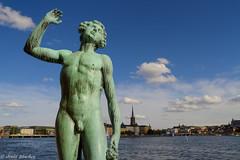 Estatua Sangen desde el ayuntamiento (jesussanchez95) Tags: estatua estatuasangen estocolmo suecia sweden stockholm statue paisajeurbano urbanlandscape escultura sculpture