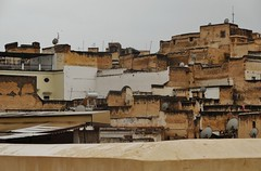 Fes on a rainy day (SM Tham) Tags: africa morocco fes city medina cityscape buildings walls wet rain cabletv dishes rooftop terrace