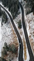 V (Boutillier Geoffrey) Tags: dronespot tourisme france paysage végétal arbres nature sapin cars voiture route v pictures spr' dji mountain montagne savoie spark drone