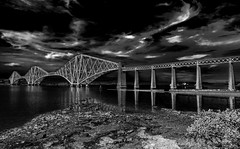 Bridge (Peter Leigh50) Tags: forth bridge scotland water sky landscape xt2 fujifilm fuji mono monochrome blackandwhite bw