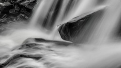 High Falls-0985 (RG Rutkay) Tags: bracebridge highfalls autumn landscape leaves river monochromatic bw long flow motion muskoka waterfalls rock