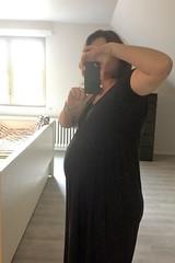 getting big... week 35 (domit) Tags: wemmel belgium rental home domit selfie pregnancy2 mirror week 35