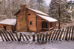 Elijah Oliver Cabin (Waterfall Guy) Tags: elijh oliver cabin cades cove great smoky mountains national park tennessee hike snow winter