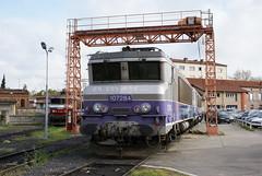 2011-04-04, SNCF, Dépôt de Toulouse Matabiau (Fototak) Tags: eisenbahn treno train railway locomotive elok toulouse france sncf bb7200 7284 7292