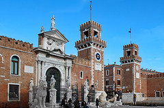 Arsenale fortified  watch towers (werner boehm *) Tags: wernerboehm arsenale venice italy architecture castello