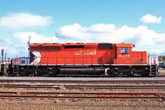 CP 6013, Sudbury, ONT. 9-15-2011 (jackdk) Tags: train railroad railway roster locomotive locomotiveroster cp cpr canadianpacific emd emdsd40 emdsd402 sd40 sd402 standardcab pacman cp6013 6013 sudbury sudburyontario