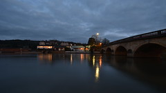 Henley Bridge - 1 (rq uk) Tags: rquk nikon d750 nikond750 afsnikkor1835mmf3545ged longexposure dusk reflections bridge henleyonthames