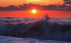 Sunset Waves (free3yourmind) Tags: sunset waves wave sun dramatic sky clouds cloudy day sea seascape batumi georgia