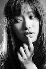 Portrait / Miho (HarQ Photography) Tags: monochrome blackandwhite portrait sony a900 sigma 50mmf14 studio